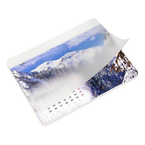 Podkładka z kalendarzem z zadrukowanym białym paskiem na folii PK-BP